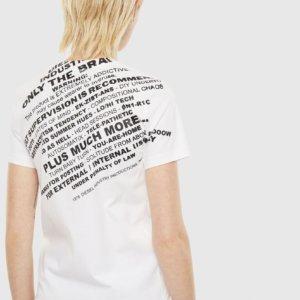 DIESEL T-SHIRT ΓΥΝΑΙΚΕΙΟ ΛΕΥΚΟ T-SILY-S1 00SELF-00ANW-100