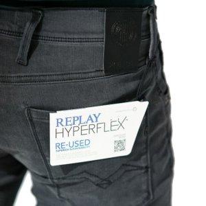 REPLAY JEAN ΓΚΡΙ-ΜΑΥΡΟ ANBASS HYPERFLEX M914Y.000.661RB08.096