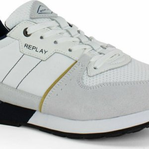 REPLAY ΠΑΠΟΥΤΣΙ SNEAKER ΛΕΥΚΟ CLASSIC STATUS RS1D0016L-2917 WHITE NAVY OCRA