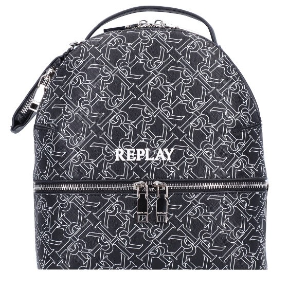 REPLAY BACKPACK ΓΥΝΑΙΚΕΙΟ ΜΑΥΡΟ LOGO FW3128.000.A0283A.098