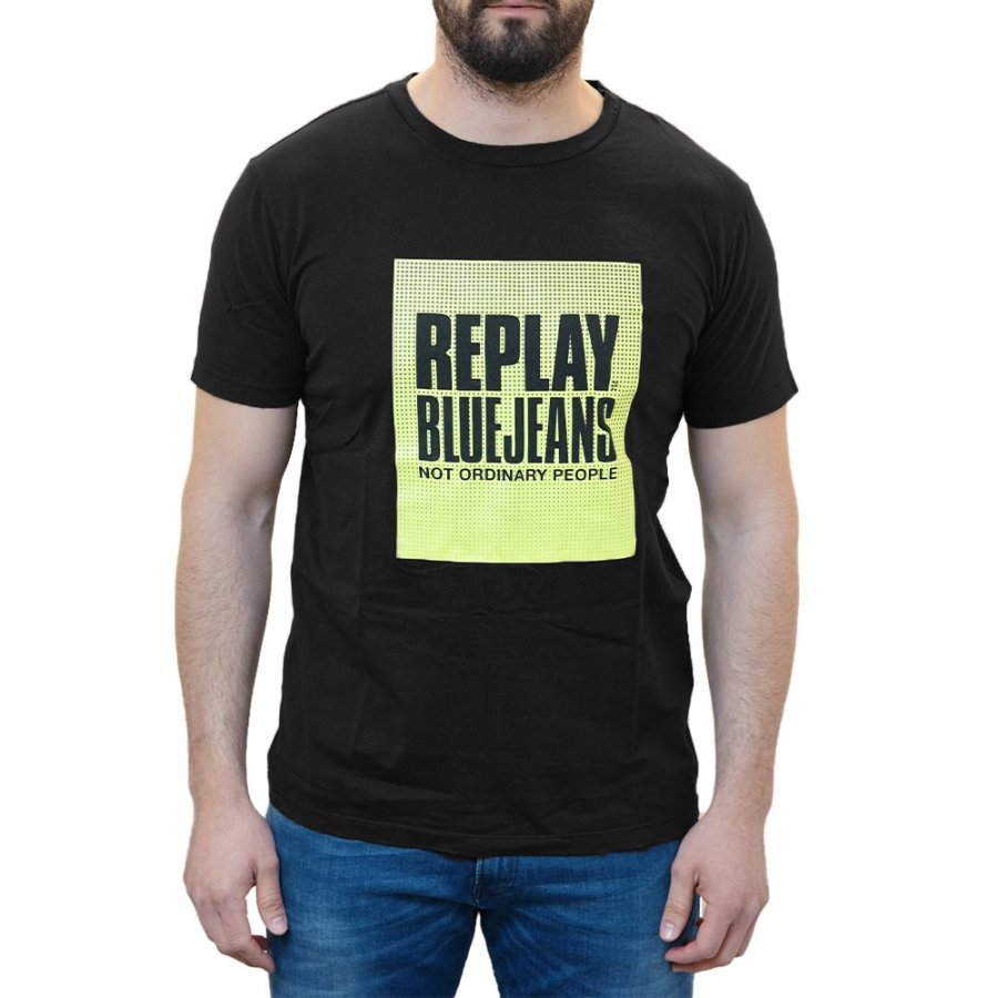 REPLAY T-SHIRT ΜΑΥΡΟ M3365.000.22038G.099 NOT ORDINARY