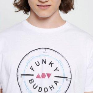 FUNKY BUDDHA T-SHIRT ΛΕΥΚΟ FBM003-055-04