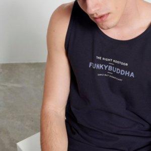 FUNKY BUDDHA ΑΜΑΝΙΚΗ ΜΠΛΟΥΖΑ ΜΠΛΕ-NAVY FBM003-326-04