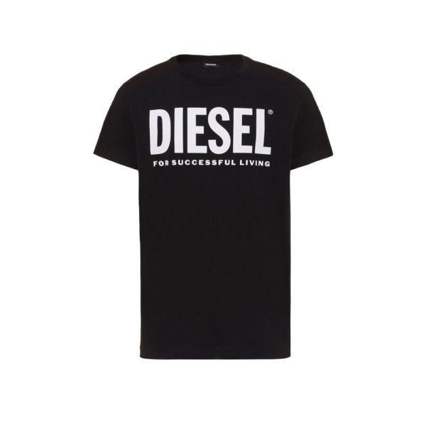 DIESEL T-SHIRT ΜΑΥΡΟ T-DIEGO-LOGO 00SXED-0AAXJ-900